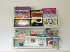 Kids furniture, set of 2 shelves for kids, shelves, wall decor, reclaimed wood furniture, book shelves, kids room decor, nursery decor by APT8ecodesign on Etsy https://www.etsy.com/listing/265374487/kids-furniture-set-of-2-shelves-for-kids