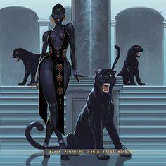 f Sorcerer Robes Bracelets female hilvl urban City Tower Black Panther Companions med Black Love Art, Black Girl Art, Art Girl, Character Inspiration, Character Art, Writing Inspiration, Image Princesse Disney, Arte Black, Afrique Art