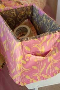 Smart Storage from Sew It All....recycle cardboard boxes with fabric....for my laundry room! :)