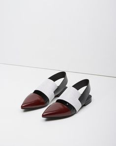 Alexander Wang  Graphic Calf Cut-Out Shoe   La Garçonne