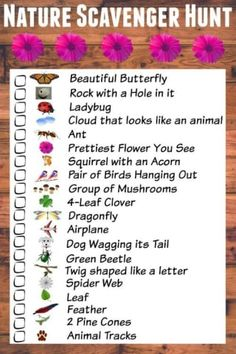 Nature Scavenger Hunt for Kids (mit kostenlos druckbarer Checkliste) - Kindersachen - Camping Nature Scavenger Hunts, Scavenger Hunt For Kids, Camping Scavenger Hunts, Scavenger Hunt List, Photo Scavenger Hunt, Sant Patrick, Geek House, Girl Scout Camping, Hiking With Kids