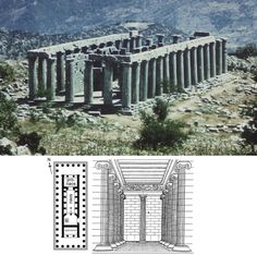 NAME: Temple of Apollo Epikourios,  LOCATION: Bassai, Greece,  DATE: Classical Period,  CULTURE: Greek,  ARCHITECT: Iktinos,  FUNCTION: temple,  MATERIALS: stone,  TECHNIQUES: Doric, additional chamber behind cella, north-south orientation,  NOTABLE: single corinthian column, non-urban setting