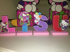 Hello Kitty Rainbow decoration letters foam material