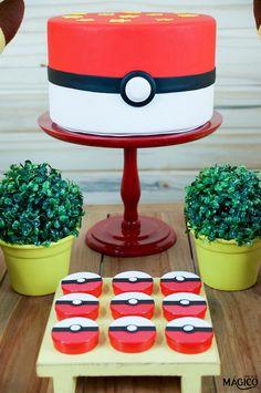 Festa Pokemon Go, Pokemon Party, Pokemon Birthday, Boy First Birthday, 4th Birthday, Birthday Parties, Bolo Do Mario, Pikachu, Childrens Party