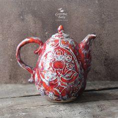 "613 Likes, 38 Comments - Valentina Fadeeva (@ceramictales) on Instagram: ""Новые крутые бусины требуют пересъёмки. А пока чайник! Новый! #ceramicteapots #teapots #teapot…"""