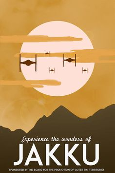 Star Wars: The Force Awakens Vintage Travel Poster [Visit Jakku] (alternative…