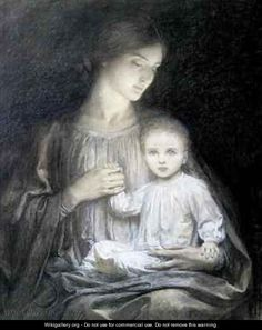 Mother and Child - Sir Frank Dicksee