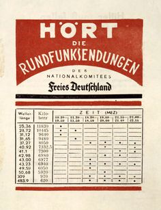 """Exponat: Flugblatt: Hört die Rundfunksendungen des Nationalkomitees """"Freies Deutschland"""", 1944"""
