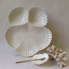 vintage Italian seafood dish divided by sophisticatedflorida
