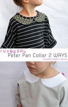 DIY- Tutorial: Peter Pan Collar 2 Ways
