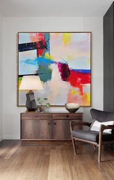 CZ Art Design – Hand-painted Palette Knife Contemporary Art canvas painting, original fine art - Free l pins Easy Canvas Art, Abstract Canvas Art, Modern Canvas Art, Oversized Wall Art, Minimalist Painting, Modern Art Paintings, Contemporary Abstract Art, Colorful Abstract Art, Contemporary Decor