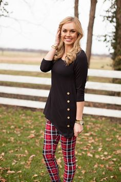 The Pink Lily Boutique - Red Plaid Leggings SUPER DEAL, $15.99 (http://www.thepinklilyboutique.com/red-plaid-leggings-super-deal/)