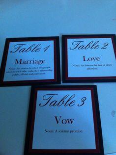 My DIY Table Numbers :  wedding black diy red Table Numbers
