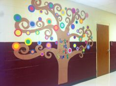 Great idea for beginning of the year!  It always takes a while before we have projects to hang in halls...this would be a nice quick project!