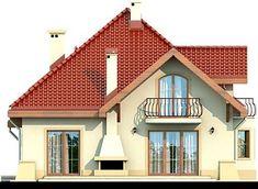 DOM.PL™ - Projekt domu DN Modena CE - DOM PC1-22 - gotowy koszt budowy Beautiful Home Designs, Beautiful Homes, Beautiful Places, Family House Plans, Dream House Plans, Home Building Design, Building A House, Kerala House Design, Kerala Houses