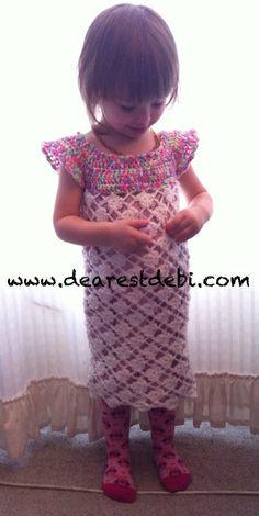 Crochet Toddler Flower Dress - Pattern by Dearest Debi