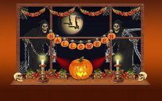 "Halloween Window Cling ~ Sign ~ Pumpkin ~ Skeleton ~ Skull~ Jack o'lantern ~ Full Moon ~ Size 11"" or 16.5"" by WindowClingsGalore on Etsy"