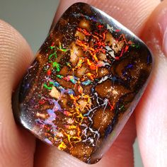 14.7CT Red Fire Matrix Boulder Opal, Natural Solid Australian, Loose Unset  #TheOpalGuys