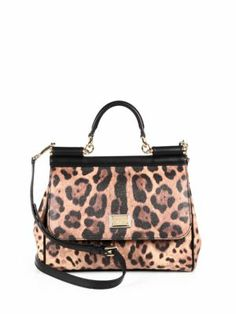 Dolce & Gabbana - Leopard-Print Coated Canvas MIni Satchel - Saks.com