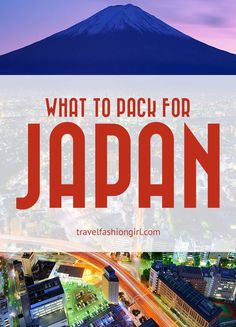 What to pack for Japan