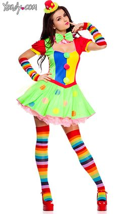 Plus Size Circus Cutie Clown Costume | Clown costumes, Clowns and ...