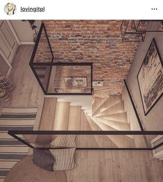 Home Stairs Design, Home Interior Design, Interior Architecture, Interior And Exterior, House Design, Style At Home, Interior Stair Railing, Deco Cool, Flur Design