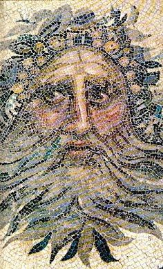 Zeus – mosaico romano en Cirene (Libia)