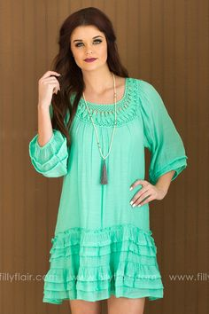 Hope For Spring Dress in Mint