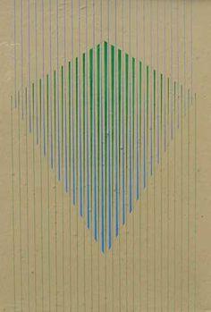 """Charoux, Lothar (1912-1987) - """"Equilíbrio""""(déc. 70) guache 70 x 50 cm"""