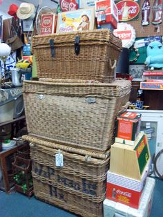 Large baskets are very cool decoration/ conversation pieces