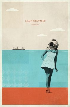 Lady Danville Gig Poster by Concepcion Studios in Screen Print