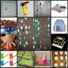 "Great post with cute ideas for an ""April showers bring May flowers party!"""