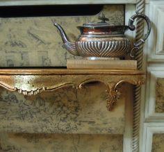 Vintage Gold Gilt Italian Florentine Wood Shelf by AloofNewfWhimsy
