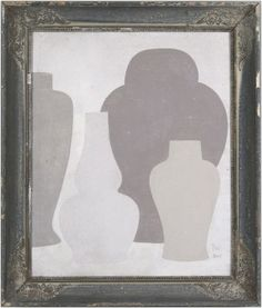 4grey - Original acrylic painting on wood in antique frame by Peter Woodward