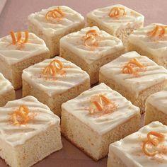 Orange Sheet Cake with Orange Cream Cheese Icing Recipe