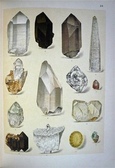 Brauns, Reinhard Anton (1912) - wonderful realist drawings of crystals