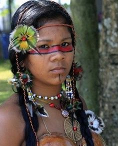 Native Body Art Paintings , face, Brasil