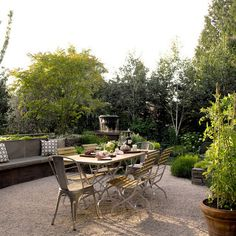 Patio Crushed Stone Design, Pictures, Remodel, Decor and Ideas