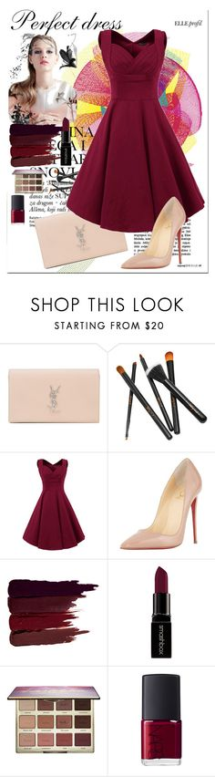 """My perfect dress"" by mila96h ❤ liked on Polyvore featuring Yves Saint Laurent, Christian Louboutin, Serge Lutens, Smashbox, tarte and NARS Cosmetics"