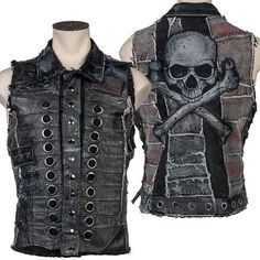 Ready to ship. One of a kind. Once it's sold, it's sold. Distressed Leather and Denim Wornstar Stage Vest WSCV-534 https://www.wornstar.com/collections/vest/products/stage-vest-rts-distressed-leather-and-denim-wscv-534