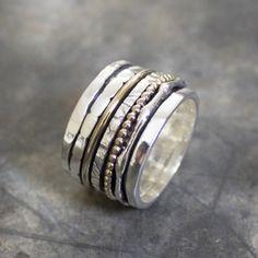 Ring zilver en gold filled