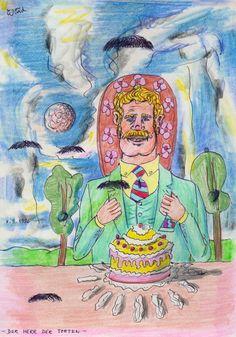 Der Herr der Torten (The Lord of the Pies), 1996 by J.G.Wind - Psychologische Darstellung