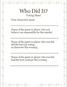 Nerdy image for free murder mystery scripts printable