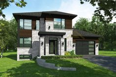 Sarah II | Constructions Serge Pouliot Bedroom Designs Images, Construction, Modern House Design, Old Houses, House Colors, Interior And Exterior, House Plans, Mansions, House Styles