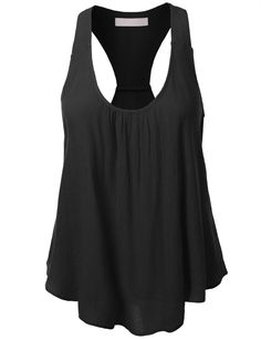 This flowy solid bohemian racerback tank top is a essential for this season! It's perfect when doing outdoor activities. Keep it cool and casual by pairing it with shorts and sandals. Feature - LINING Look Plus Size, Lingerie, Ladies Dress Design, Racerback Tank Top, Spring Summer Fashion, Summer Wear, Sexy, Athletic Tank Tops, Fashion Outfits