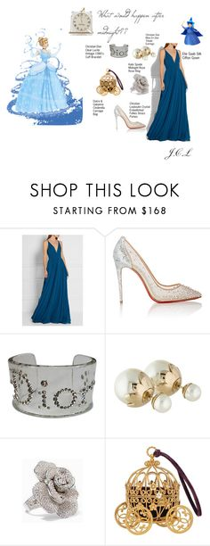 """""""Inspired by Cinderella"""" by dame-j ❤ liked on Polyvore featuring Elie Saab, Christian Louboutin, Christian Dior and Kate Spade"""