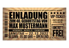 Einladungskarten - Einladungskarte zum 40. Geburtstag, antikes Design - ein Designerstück von papier-fee bei DaWanda