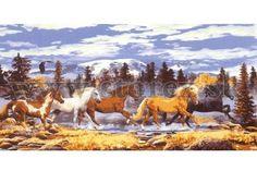 Gobelín 60x110 cm Mustangy
