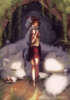 Princess Mononoke by Lillkun.deviantart.com on @DeviantArt