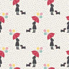 Shop | Category: April Showers | Product: April Showers Umbrella Girl Cream